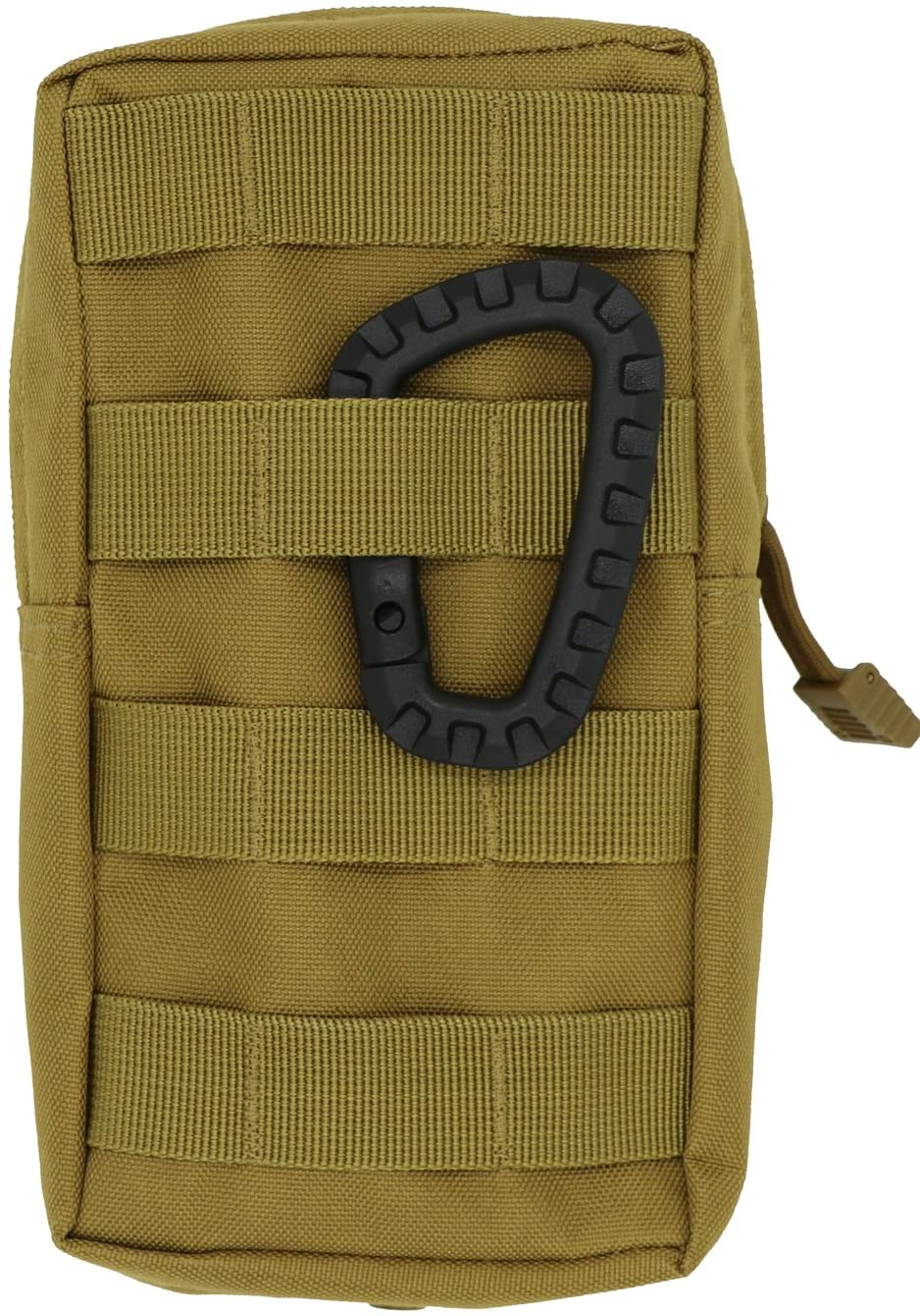 LefRight Khaki Medium Tactical Molle Accessory EDC Pocket Pouch with Carabiner