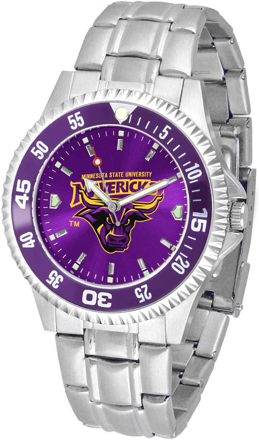 Minnesota State Mavericks Competitor Steel AnoChrome Color Bezel Men's Watch