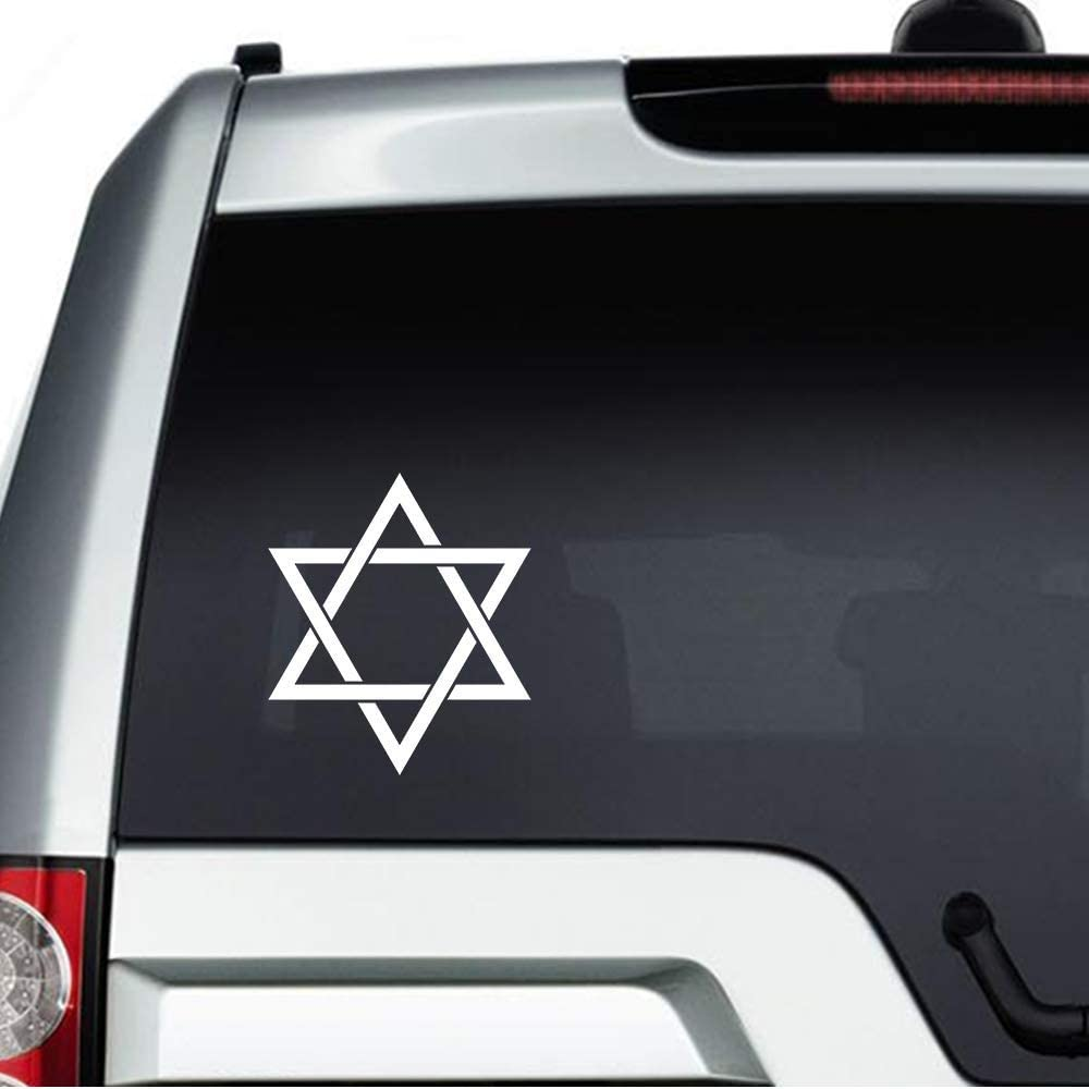 None Brand Star of David Symbol Vinyl Sticker Graphic Bumper Tumbler Decal for Vehicles Car Truck Windows Laptop MacBook Phone Wall Door
