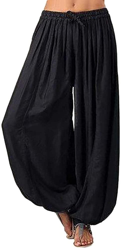 Pants for Women, Pervobs Women Loose Elastic Waist Pants Yoga Bloomers Pants Trousers