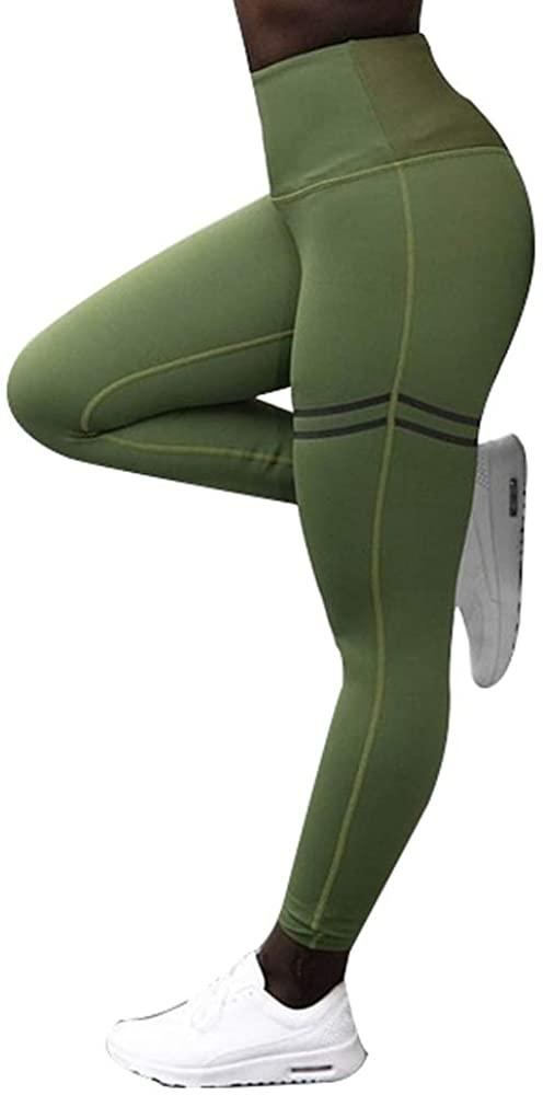 GanKun Co., Ltd Women High Waist Anti-Cellulite Compression Slim Leggings for Tummy Control and Running Yoga Sport