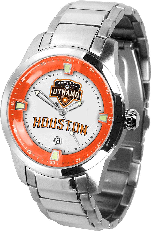 Game Time MLS Houston Dynamo Mens TitanWrist Watch, White, One Size