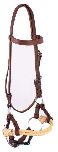 Showman Oiled Harness Leather Side Pull w/Snaffle Bit