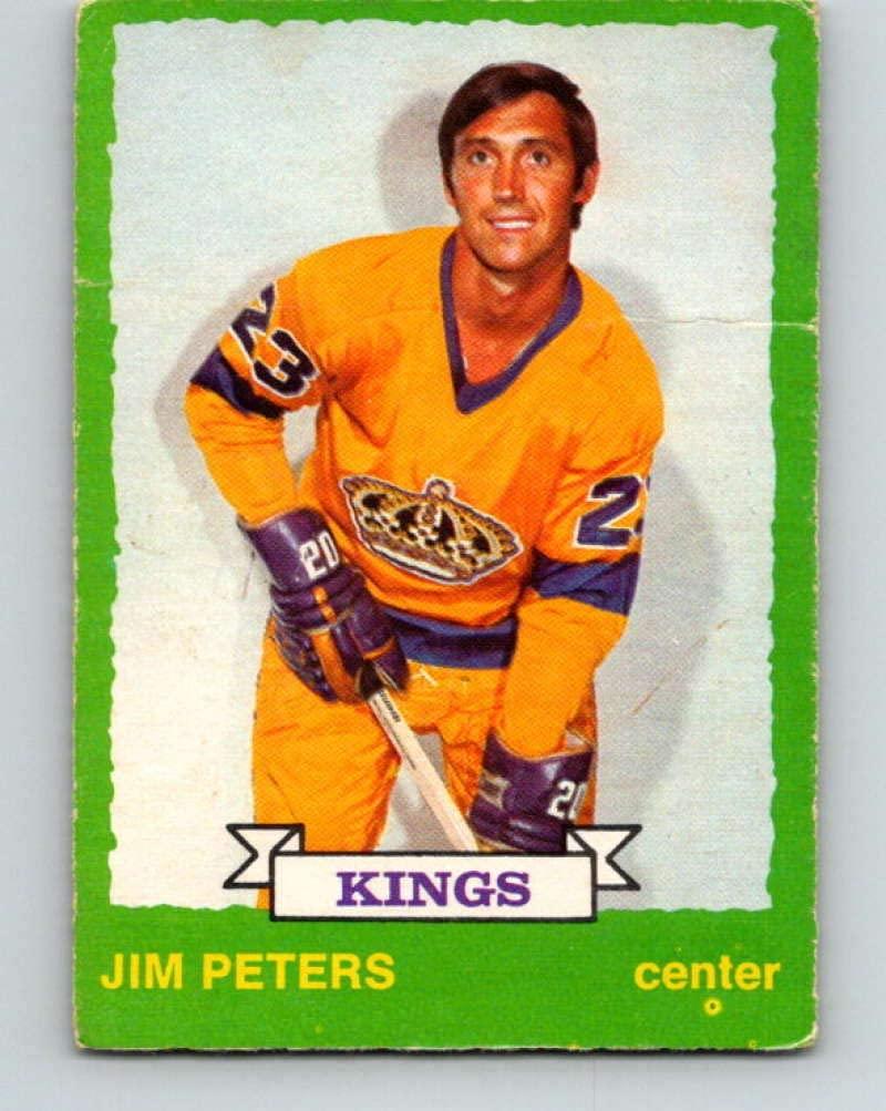 1973-74 O-Pee-Chee #231 Jim Peters Hockey NHL Kings