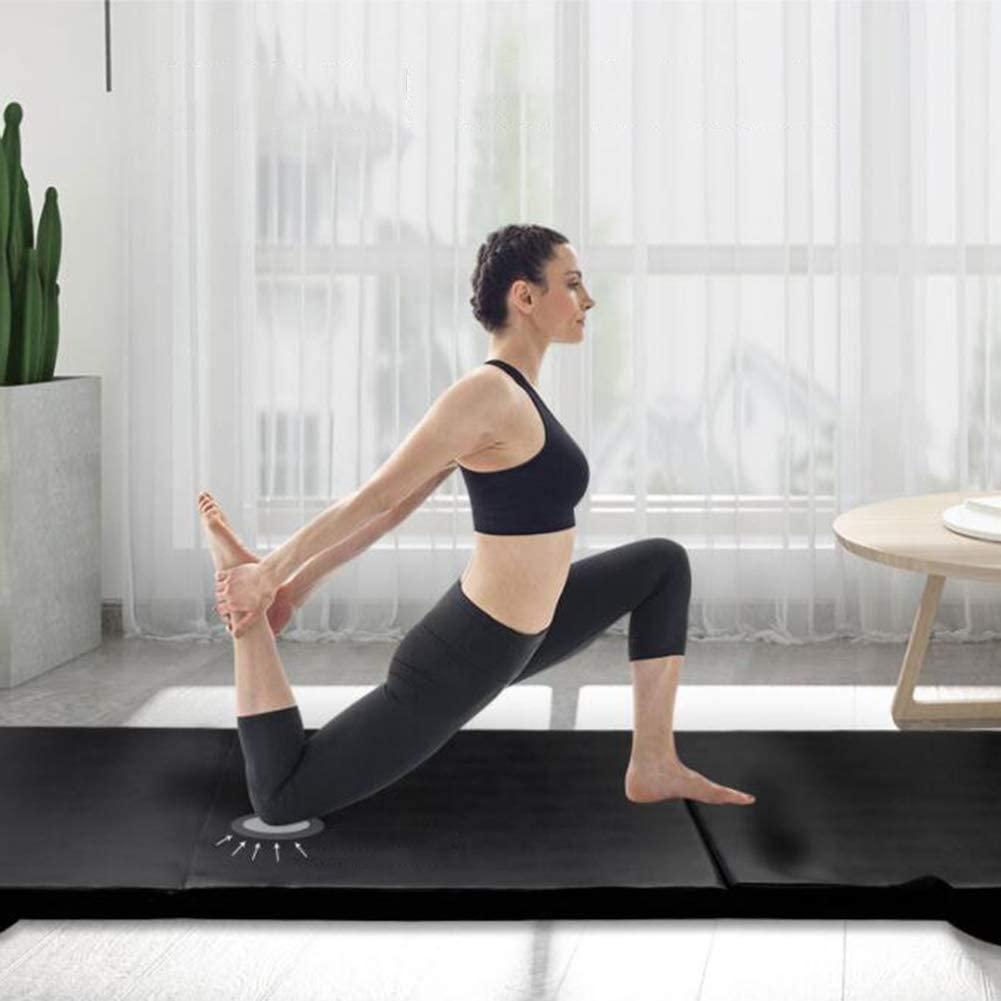 GUORRUI Exercise Mats Martial Arts Mats Yoga Mat Carpet Household Men Fitness Mat Plus Thick Black, 2 Materials (Color : B, Size : 61x183x4cm)