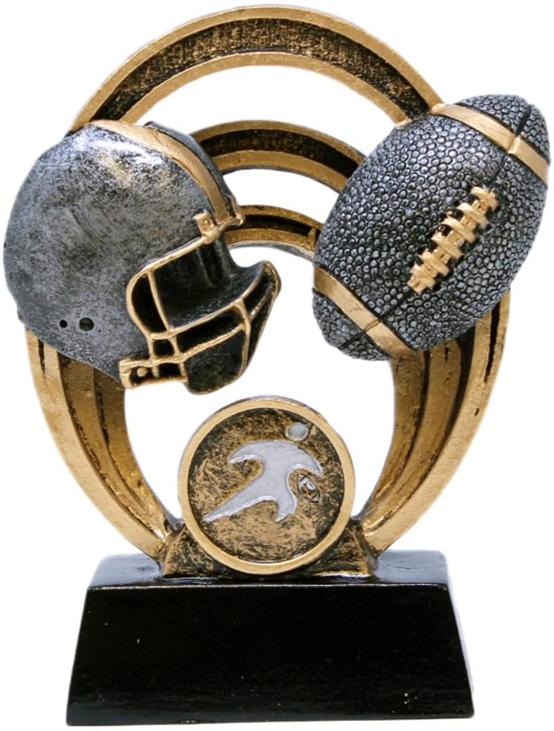 Decade Awards Football Halo Trophy - Gridiron Award - 5 Inch Tall - Customize Now