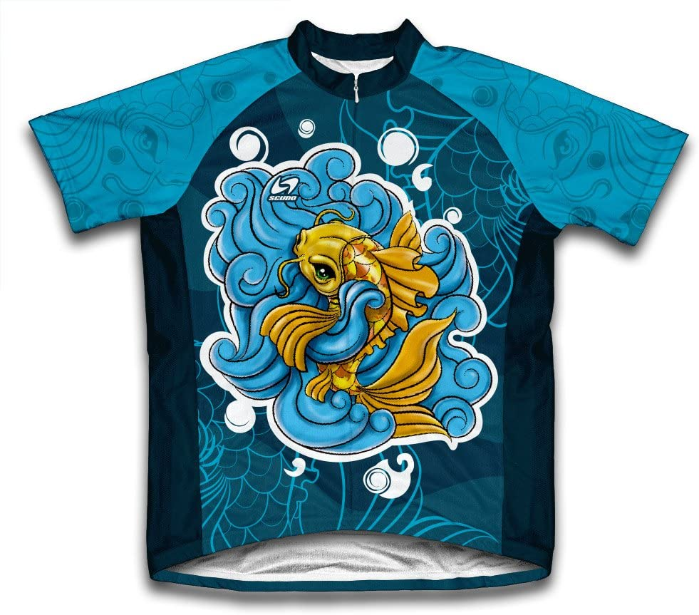 ScudoPro Doitsu Ogon Koi Short Sleeve Cycling Jersey for Men