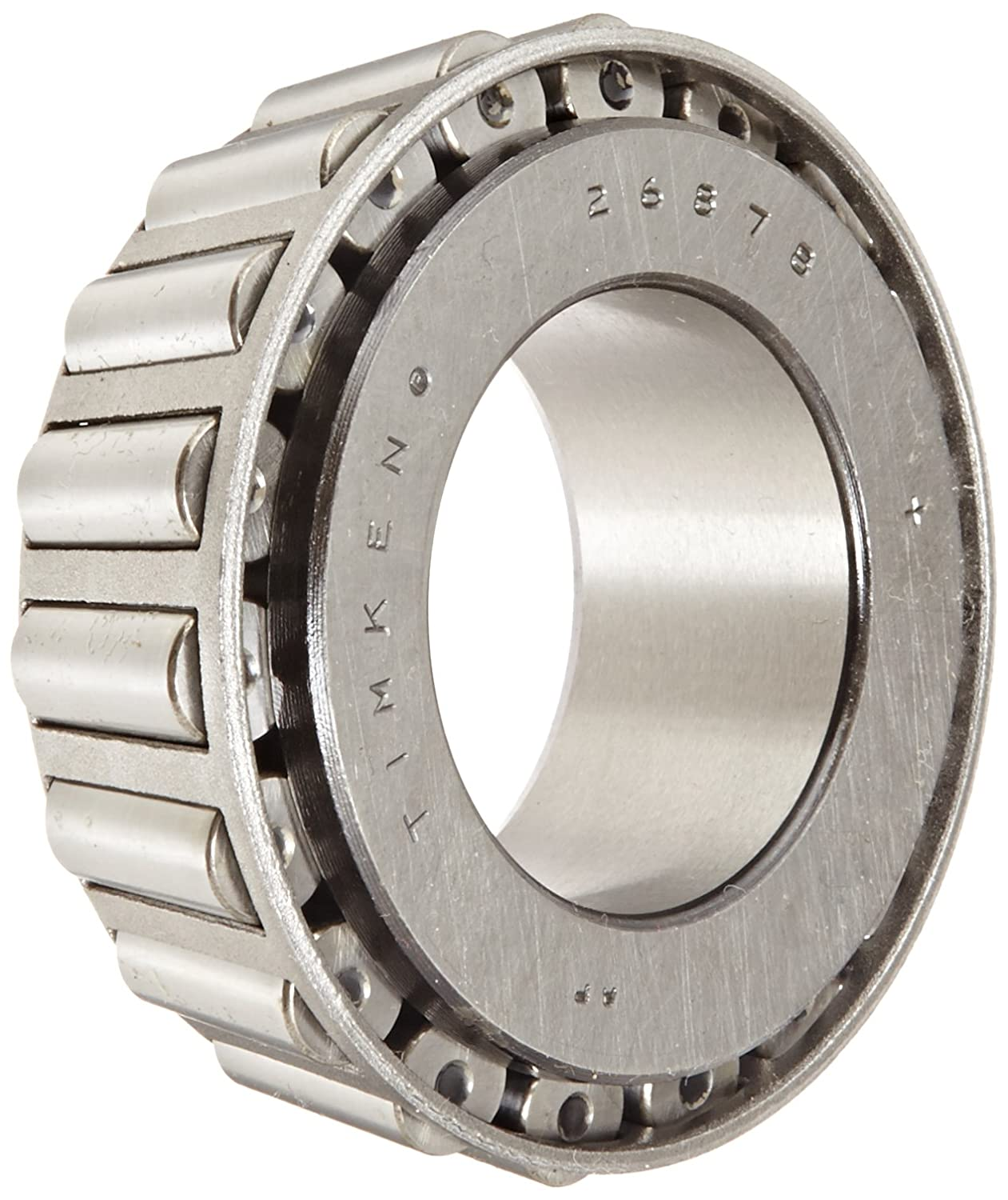 Timken 26878 Tapered Roller Bearing, Single Cone, Standard Tolerance, Straight Bore, Steel, Inch, 1.5000