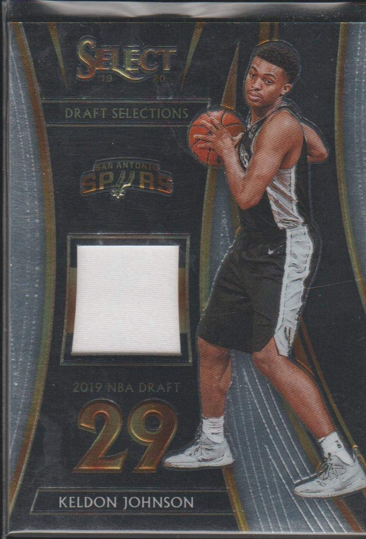 2019-20 Panini Select Keldon Johnson Spurs Game Used Jersey Basketball Card #DS-KJN