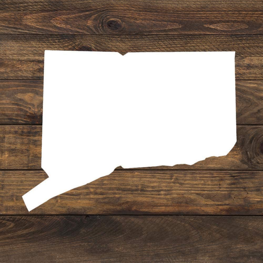 None Brand Connecticut CT State Outline Vinyl Sticker Graphic Bumper Tumbler Decal for Vehicles Car Truck Windows Laptop MacBook Phone Wall Door