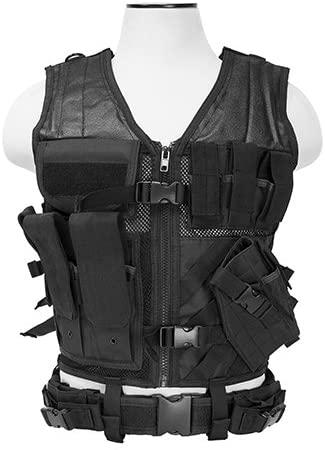 VISM by NcStar Tactical Vest (CTV2916B), Black, adjustable small/medium