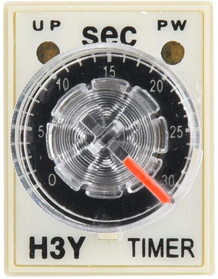 Beennex H3Y-2 Time Relay Delay Timer 8 Pins Relay Delay Time 0-30 Seconds 5A for Electrical Appliances(12VDC)