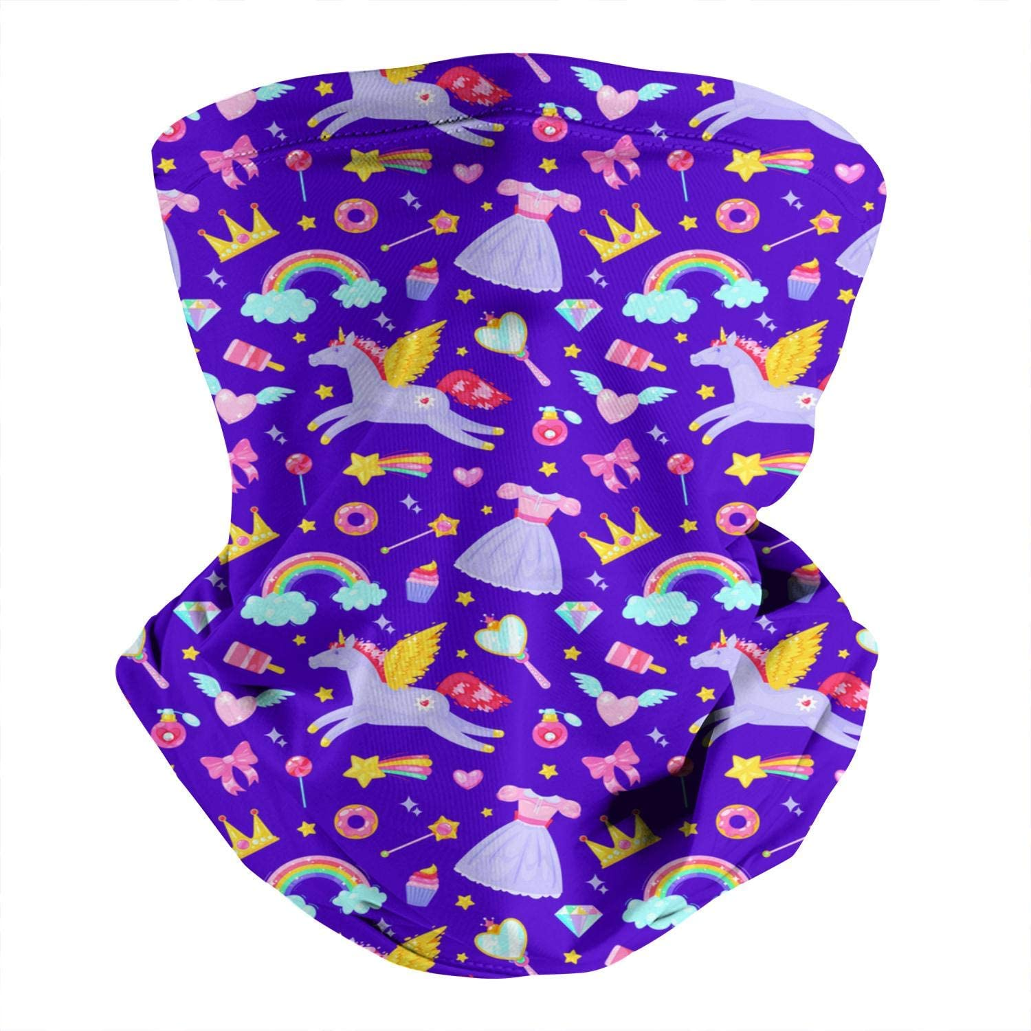 LHSCVUFASC Catnip Rainbow Dust Neck Face Cover Bandanas Scarf Cover Gaiter Fishing Protection Headband