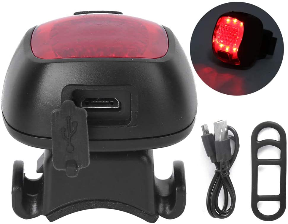 Keenso Bike Taillight, Cycling Taillight USB Charging Tail Light Rear Bike Tail Light Rechargeable Riding Equipment