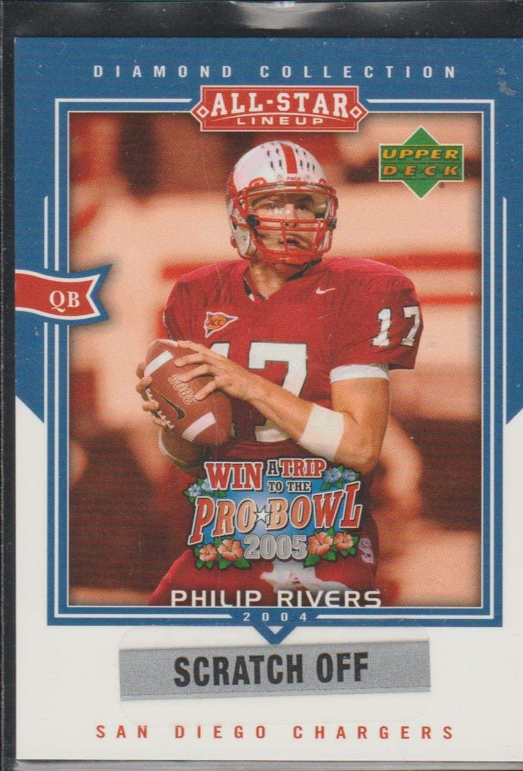 2004 Upper Deck Philip Rivers Chargers Scratch Off Insert Football Card #AS4