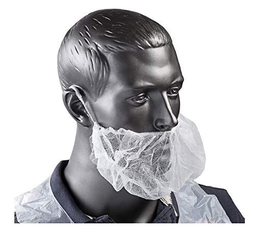 VersaPro BRDC1000 Beard Covers, White, Latex-Free, Breathable Spunbond Polypropylene, Pack of 100