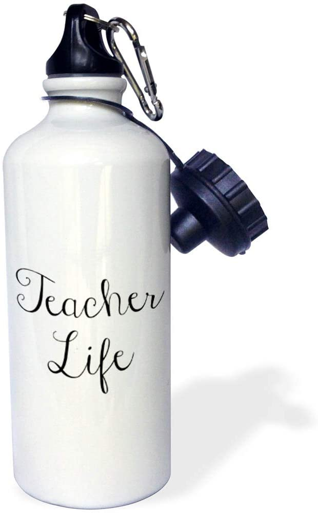 3dRose Gabriella-Quote - Image of Teacher Life Quote - 21 oz Sports Water Bottle (wb_319513_1)