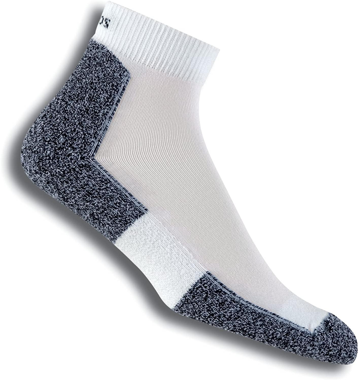 Thorlos Unisex LRMXM Light Running Thin Padded Ankle Sock, White