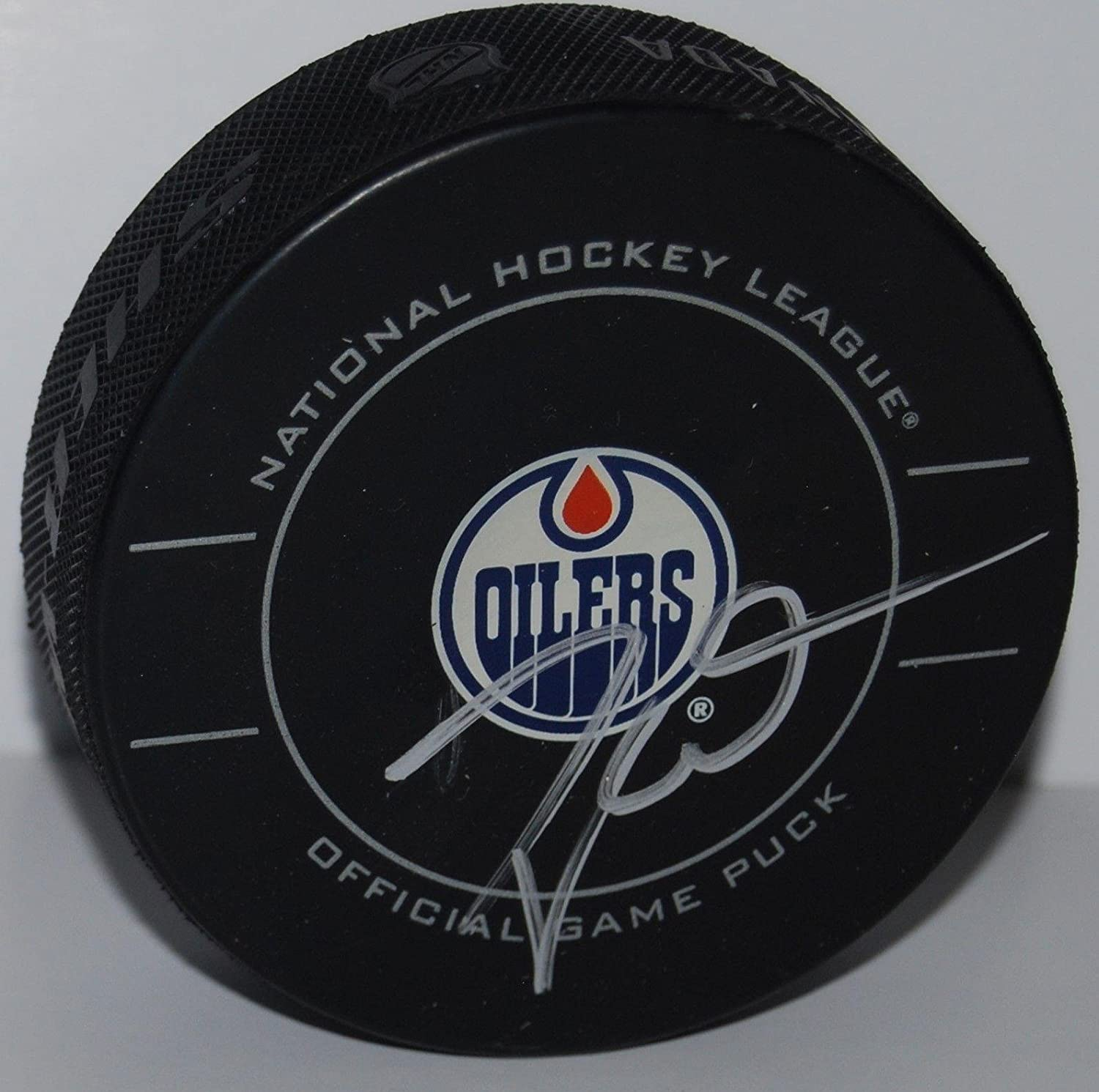Taylor Hall Signed Hockey Puck - Official W COA #2 - Autographed NHL Pucks