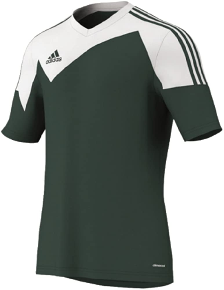 Adidas Toque 13 Jersey Adult Large Short Sleeve Forest Green/white