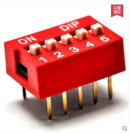 Davitu Terminals - 5pcs/lot, 5P 5 DIP switch 5 DIP switch 5 DIP switch flat pitch 2.54MM 10 Pin