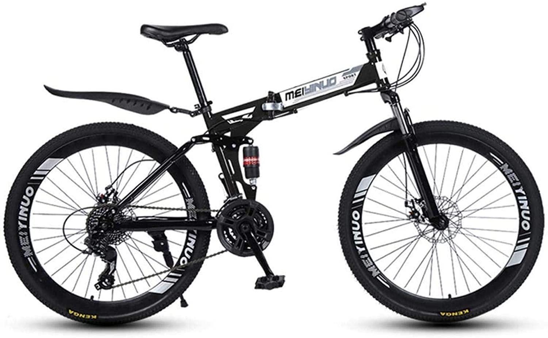 Dirty hamper 26 Inch 27-Speed Mountain Bike for Adult, Lightweight Aluminum Full Suspension Frame, Suspension Fork, Disc Brake Foldable Bicycle