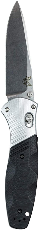 Benchmade - Barrage 581 Knife, Drop-Point Blade, Plain Edge, Satin Finish, G10 and Aluminum Handle