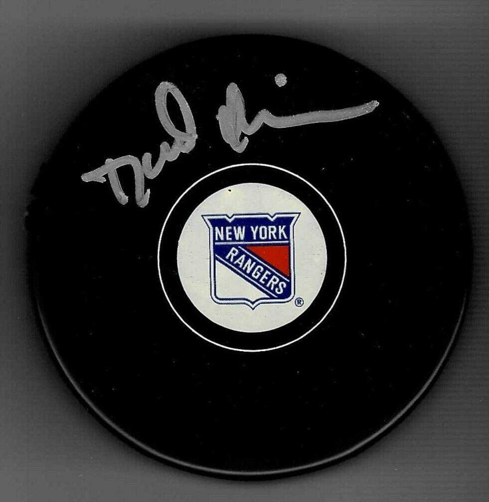 David Quinn Signed New York Rangers Puck - Autographed NHL Pucks