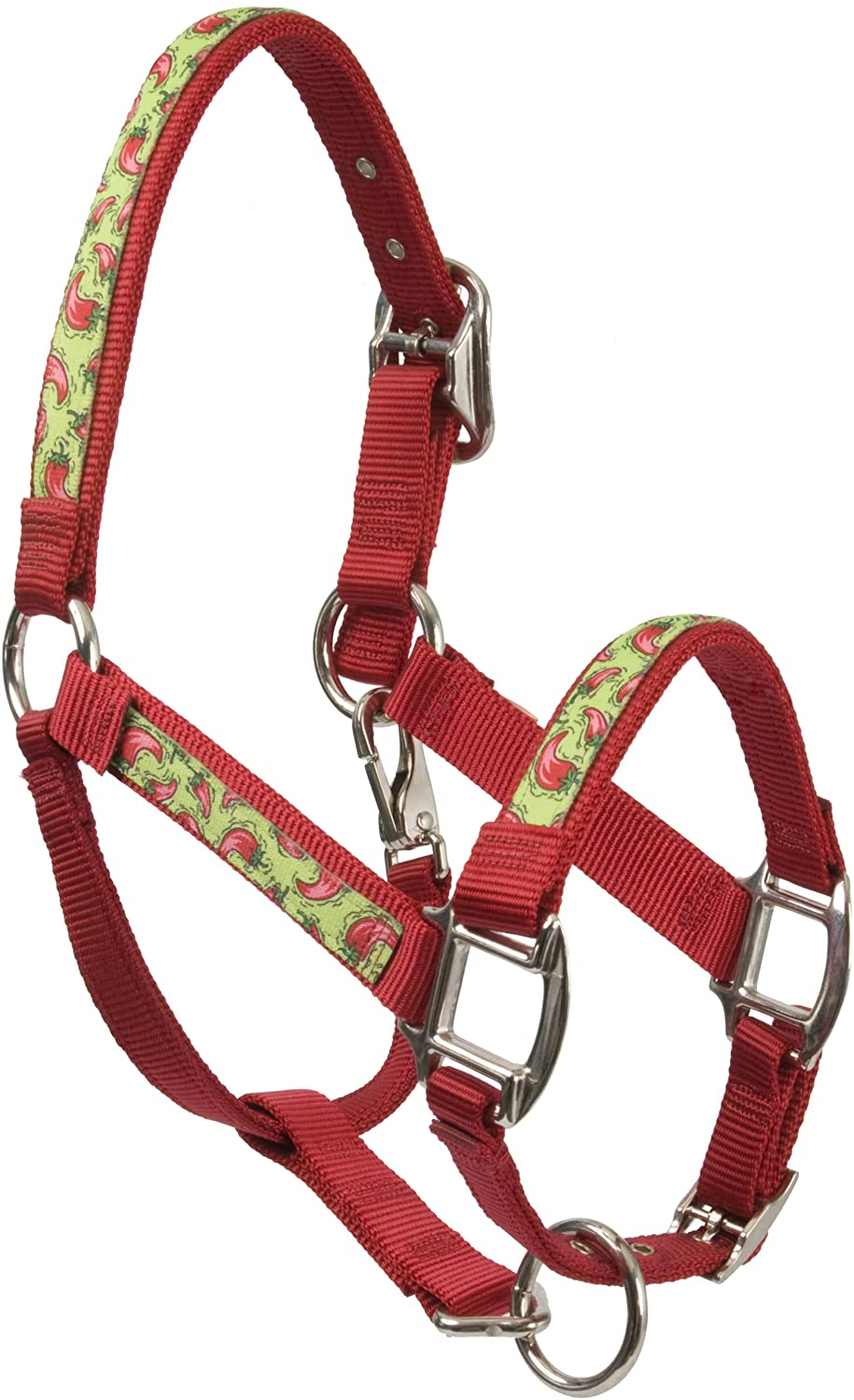 Red Haute Horse HP1403 A Equine Elite Horse Halter, Hot Peppers