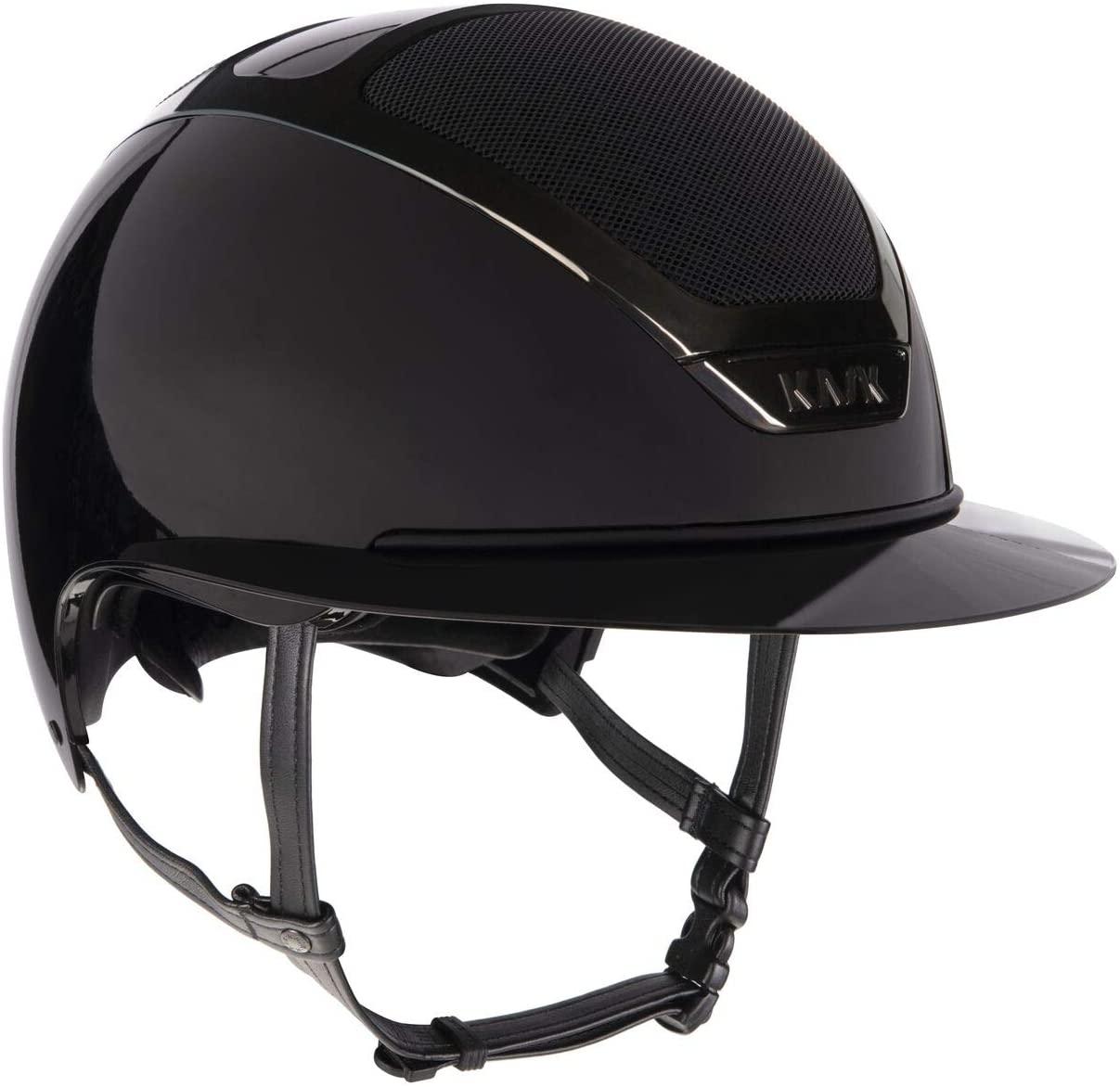 Kask Equestrian Helmet Dogma Star Lady Pure Shine Chrome Wide Brim Helmet with Detachable Cushioned Brace