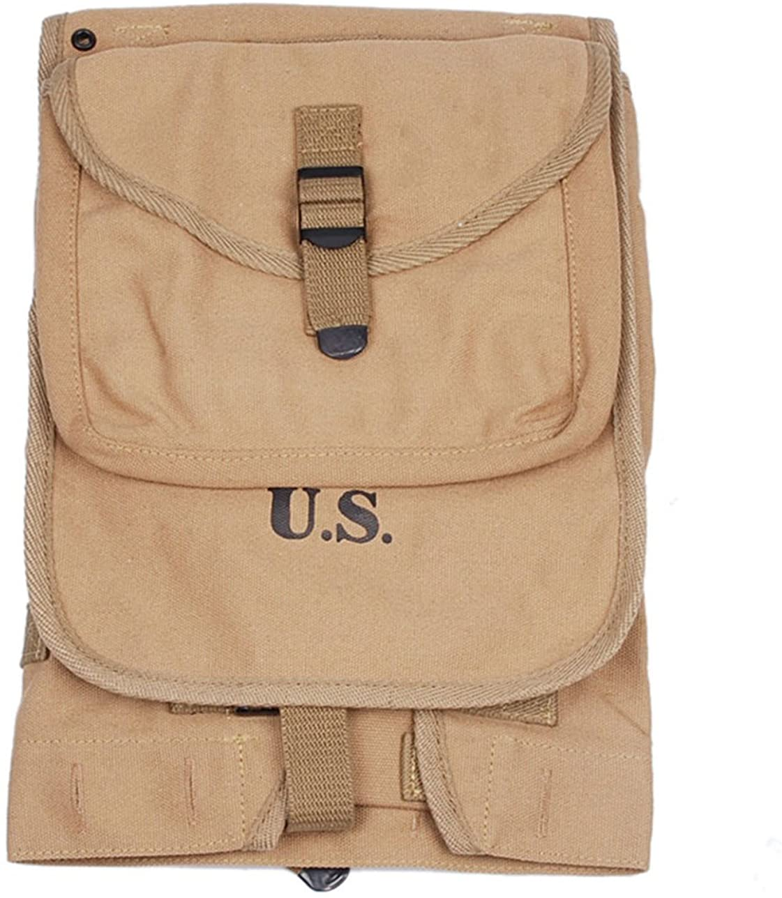 Heerpoint Reproduction Ww2 WWII Us Army M1928 Tactical Haversack Rucksack Knapsack Backpacks Canvas (Khaki)