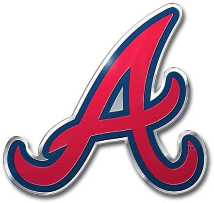 MLB Atlanta Braves Die Cut Color Automobile Emblem
