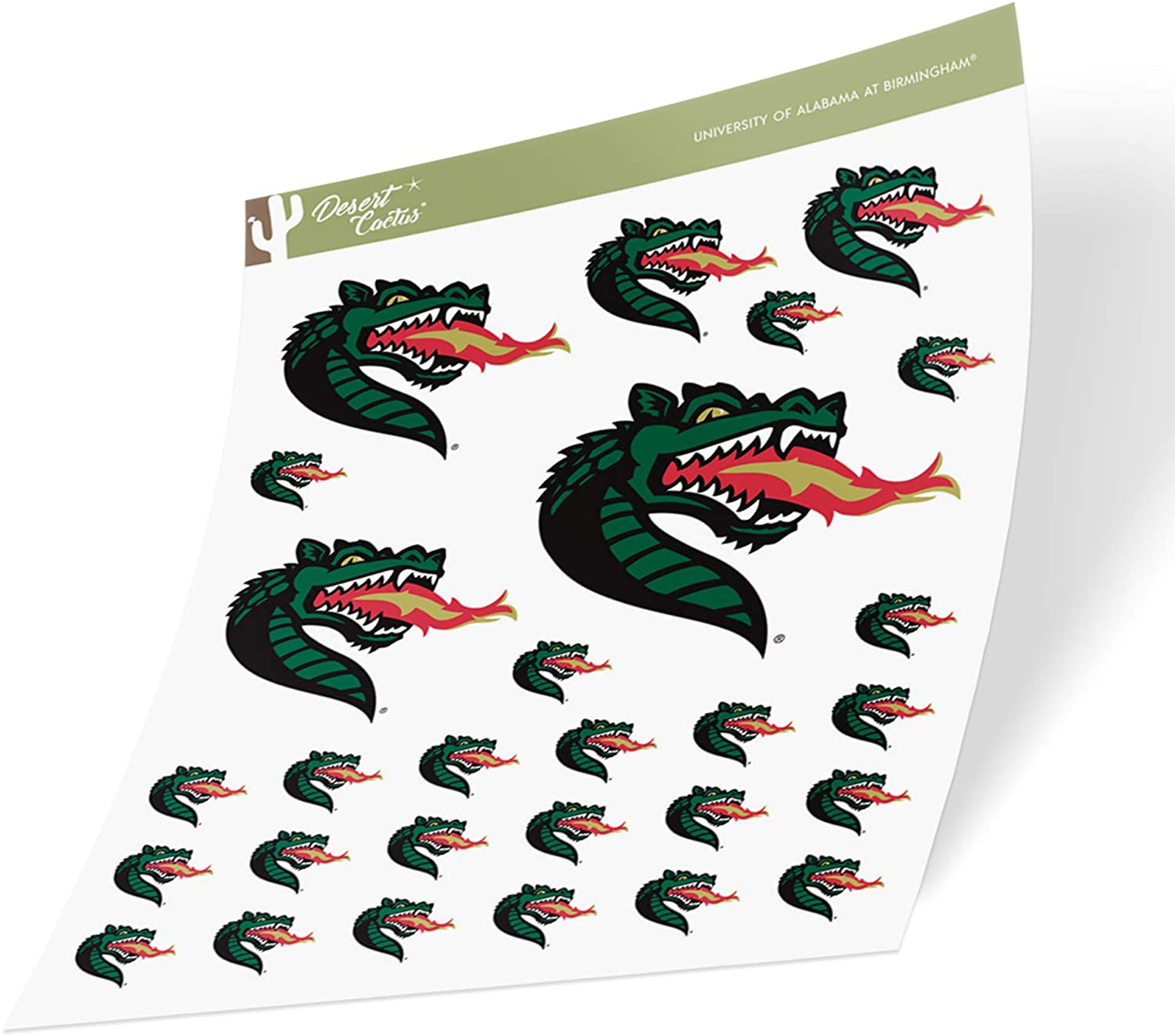 University of Alabama at Birmingham UAB Blazers NCAA Sticker Vinyl Decal Laptop Water Bottle Car Scrapbook (Sheet Type 3-1)