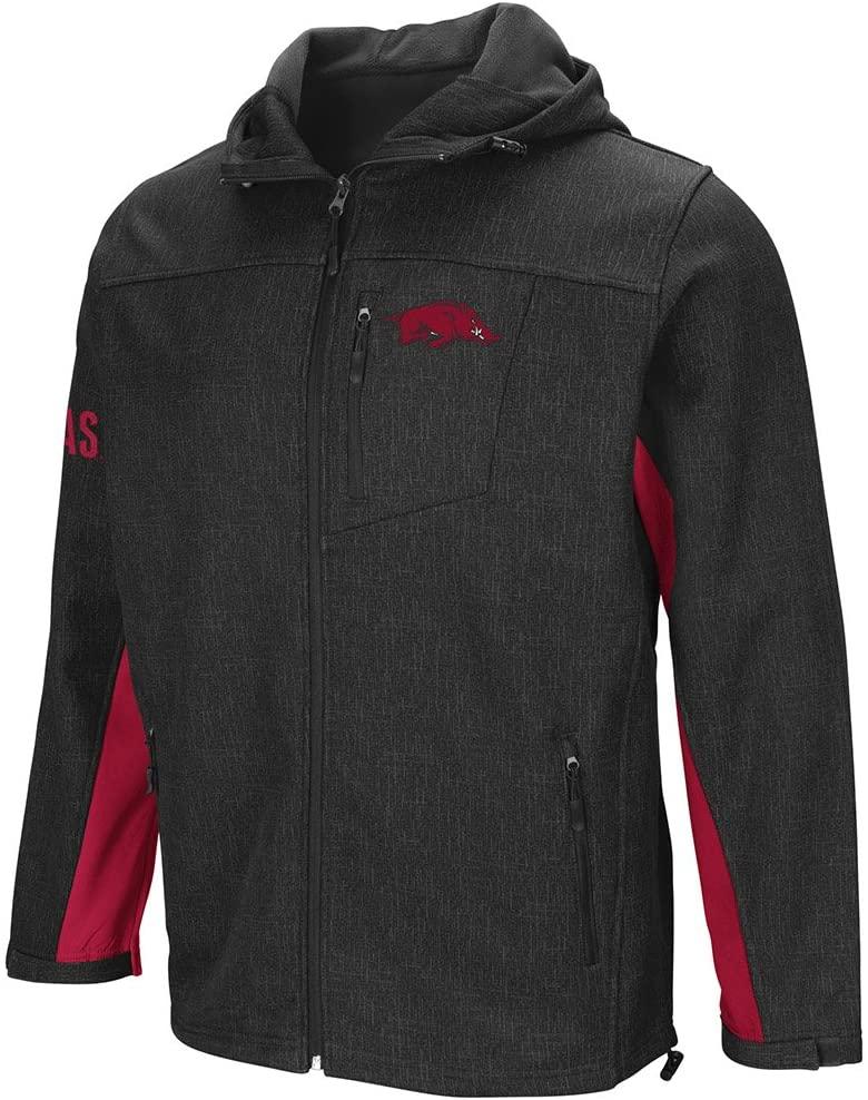 Colosseum Arkansas Razorbacks Gray Gibbons Full Zip LS Hooded Jacket