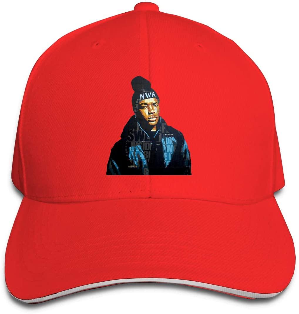 IASIFD Dr-D-r-e Unisex Flex-fit Hat Hip Hop Baseball Cap Sun Hat Outdoor Cap Red