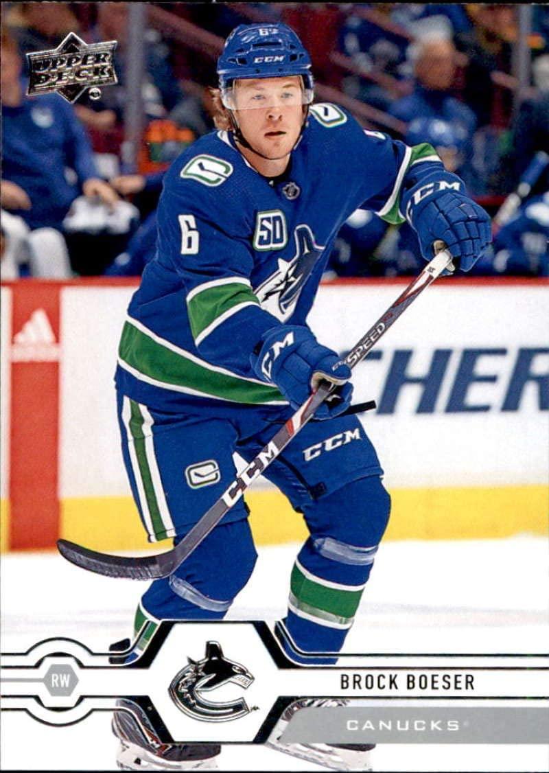 2019-20 Upper Deck #418 Brock Boeser Vancouver Canucks Hockey Card
