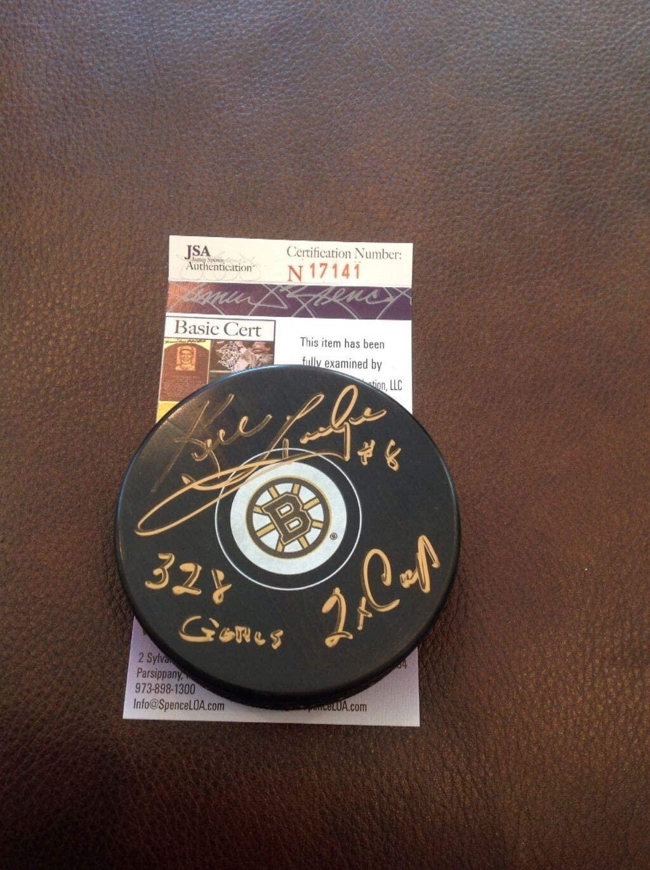 Ken Hodge Autographed Signed Hockey Sr. Bruins Puck JSA Cert