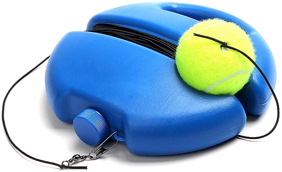 DOMIRE Tennis Practice Equipment Tennis Trainer Rebound Ball Tennis Ball Machine Portable Training Gear for Kids Player Beginner(Blue)