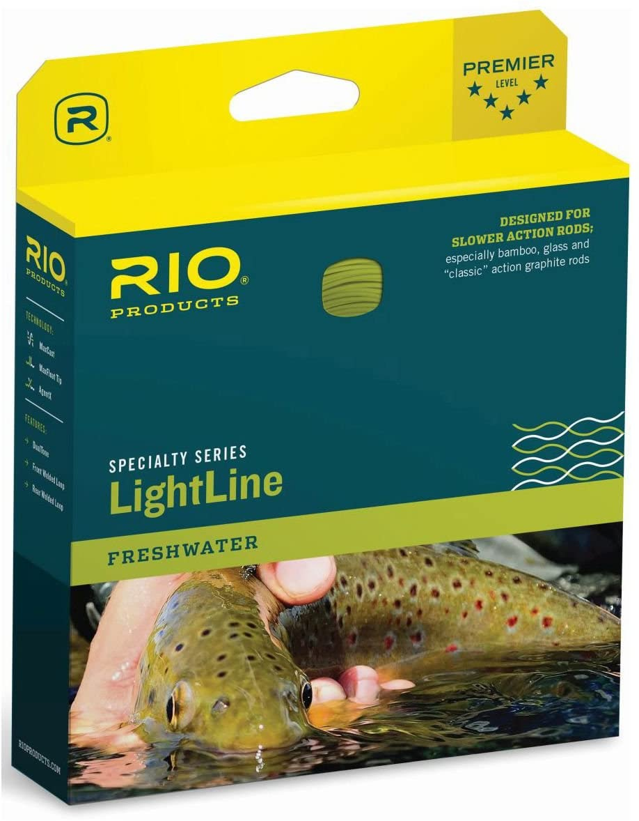 RIO Products Fly Line Lightline Wf4F, Brown-Ivory