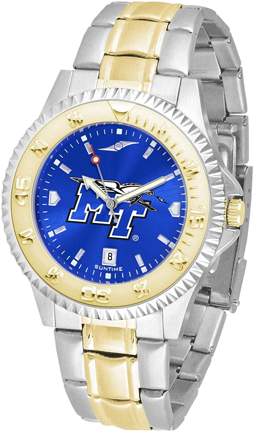 SunTime Texas Tech Red Raiders Competitor AnoChrome Two Tone Watch