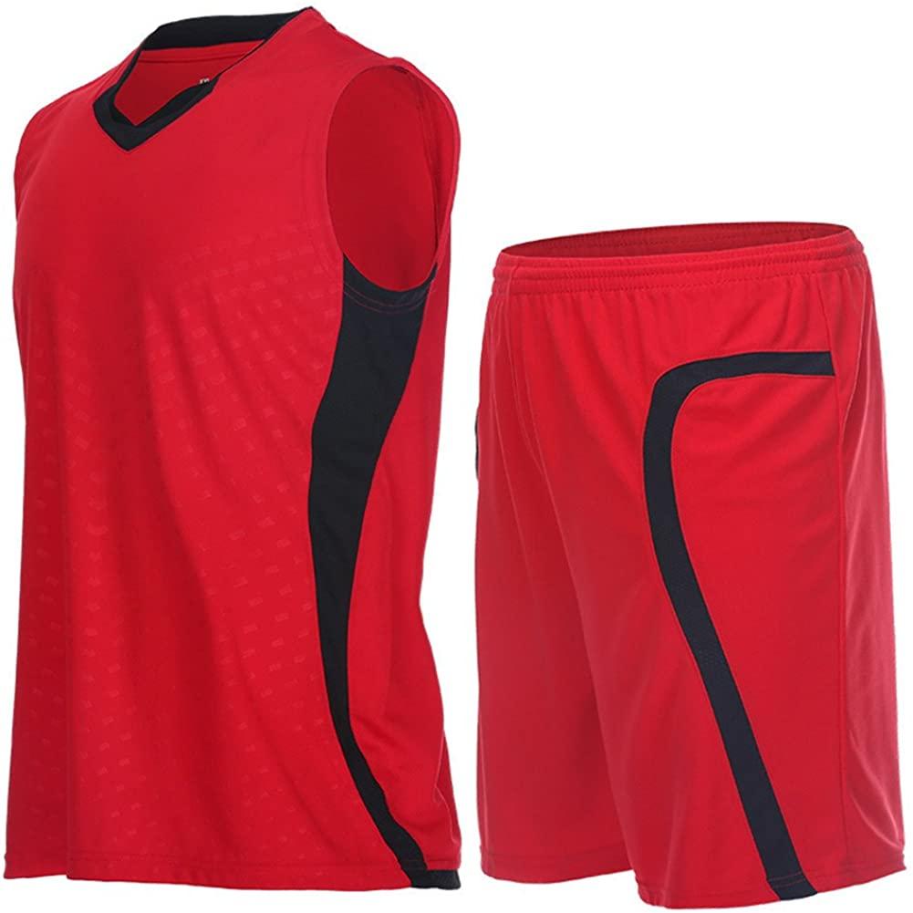 Fanceey Men Basketball Jerseys suits training Clothing Sports Suit 2 Pcs sets