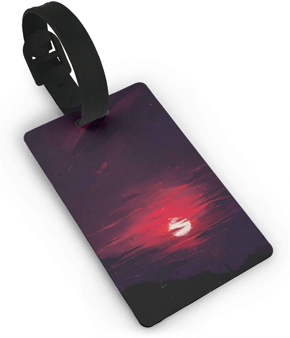Field Rain Sunset Fashion Luggage Tag PVC Travel ID Suitcases Label For Bag
