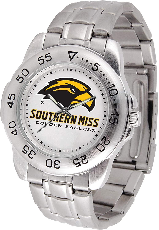 SunTime Southern Mississippi Golden Eagles Sport Steel Band Mens Watch