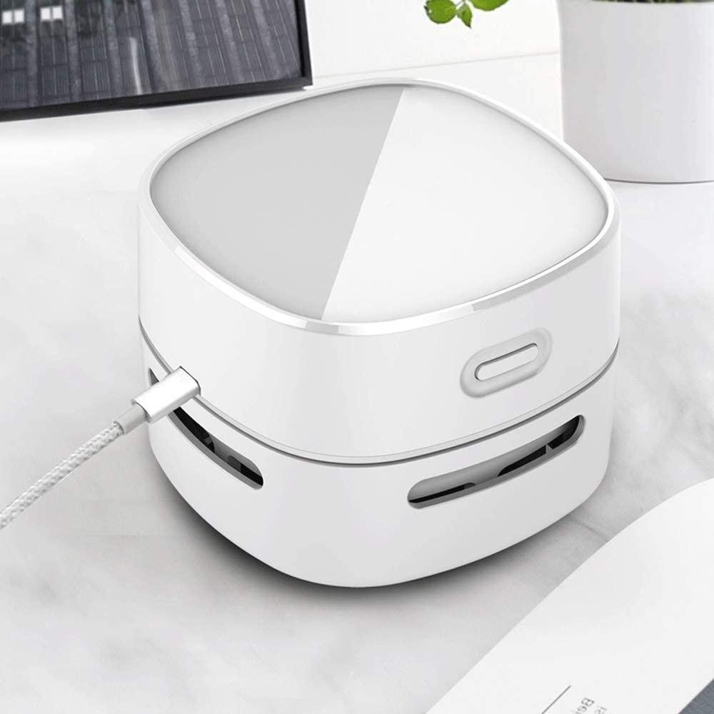 HQWE-ER Yyijunxcq Rechargeable Desktop Vacuum Cleaner, Mini Vacuum Cleaner