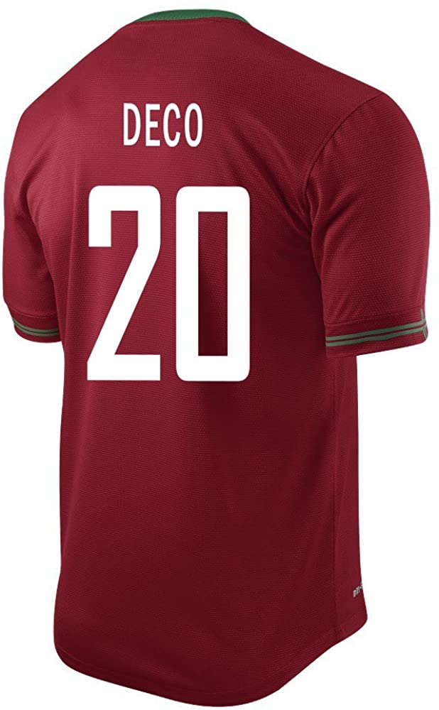 Deco #20 Portugal Home Soccer Jersey (S)