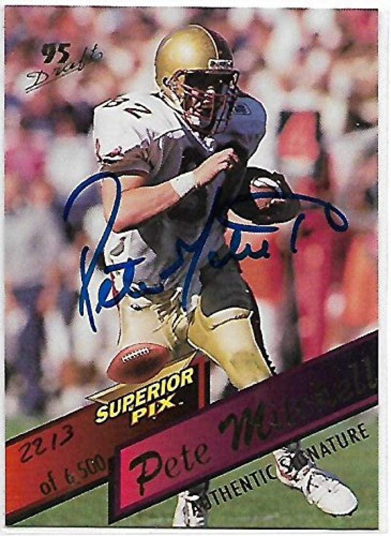1995 Superior Pix Autographs #83 Pete Mitchell NM-MT Auto 2213/6500 Dolphins