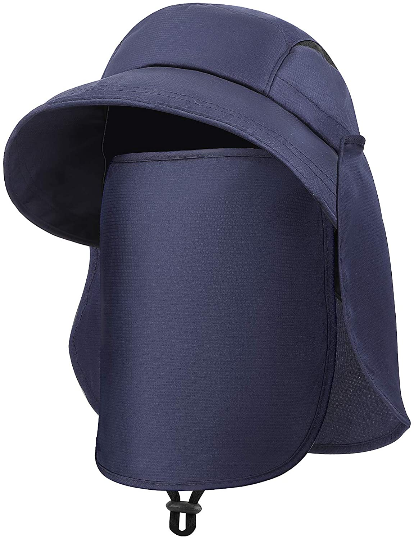 QKURT Ponytail Sun Hat, Folding Fishing hat UPF Protection for Hiking Fishing