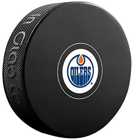 Sherwood Edmonton Oilers Official NHL Logo Souvenir Autograph Hockey Puck