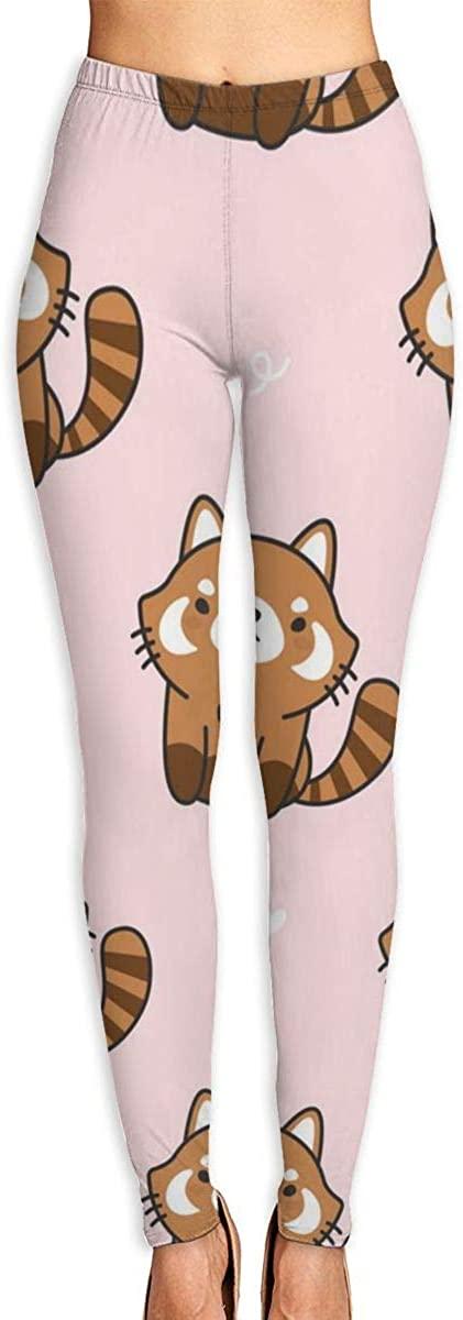 Girl Yoga Pants Leggings Red Raccoon Running Workout Capris Long Trousers Training Gym