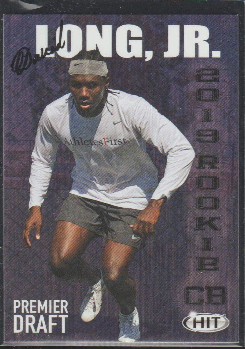 2019 Sage Hit David Long Jr. Wolverines Premier Draft Football Card #27
